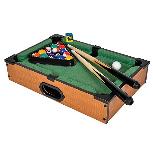 Srenta Mini Pool Table - Mini Tabletop Portable Billiards Game for Adults, Kids, and Toddlers - Single Set