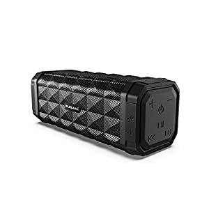 Bluetooth Speakers, Bugani M99 Portable Bluetooth Speaker 5.0, 100ft Wireless Range, 16w Stereo Sound, Amazing Bass, Built-in Mic, with Stand, Speaker for Home, Outdoors and Travel(Black)