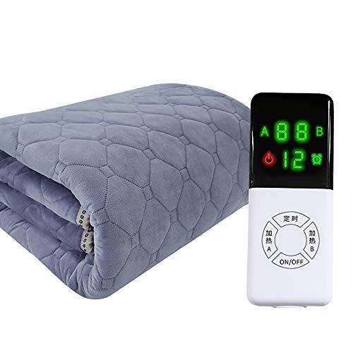 ASDFGH Radiación-Libre Control Doble Calienta Camas eléctrico, Casa Snuggle Calienta Camas eléctrico...