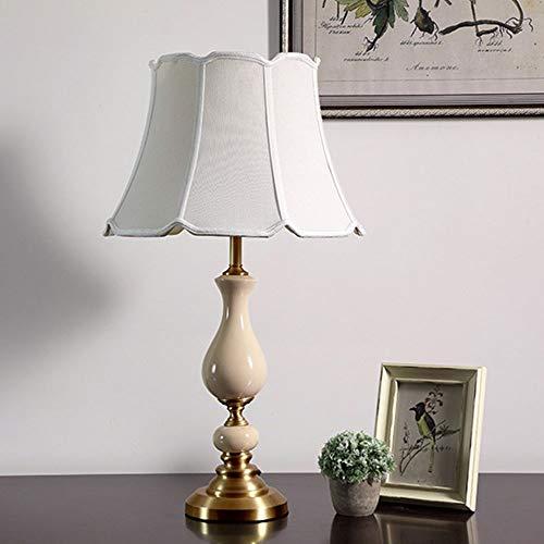 LTAYZ Lámpara Escritorio Lámpara All Copper Continental American Creative Home Retro Ceramic Lámpara de cerámica Lámpara Lámpara LED Faro 1 * E27 (41 * 71cm)