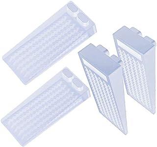 Tope de Puerta para Suelo, [Set de 4] Cuña Puerta de Goma Antideslizante Protección de Pared y Muebles Transparente