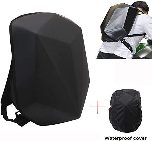 YSMOTO - Zaino da moto rigido in fibra di carbonio, grande capacità, con guscio rigido, impermeabile, per viaggi, campeggio, ciclismo