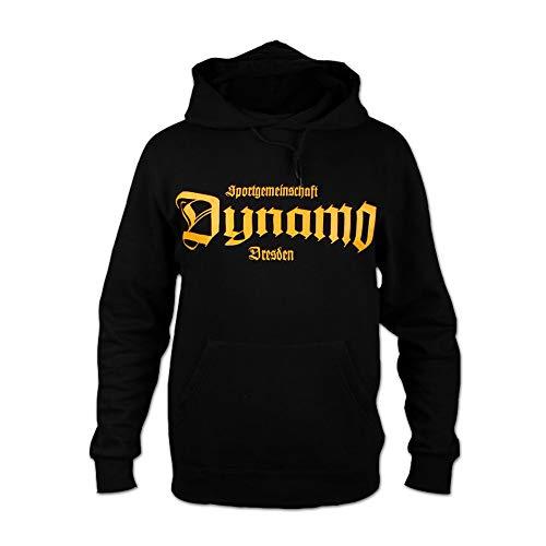 SG Dynamo Dresden Kapuzensweater Old School schwarz, Größe:M
