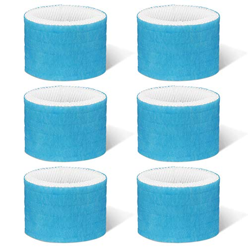 Cabiclean 6 Pack Humidifier Wicking Filters for Honeywell Replacement Filter A, HAC-504, HAC-504AW, HAC504V1, HCM350, HCM-350W, HCM-300T, HCM-315T, HCM-600, HCM-710, and Other Cool Mist Models