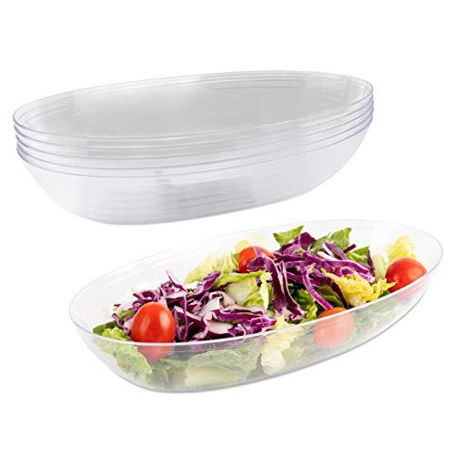 Impressive Creations Salatschüssel aus Kunststoff, 107 ml 25 Stück - schwere Einweg-Salatschüssel - robuste und wiederverwendbare Partyschüssel - perfektes Geschirr - klein 5pk farblos