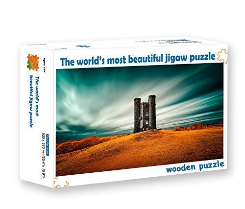 zhangshifa Rompecabezas para 500 Piezas,Hermoso Castillo Paisaje De Otoño Puzzle, Rompecabezas De Madera DIY, Puzzles Regalo De Cumpleaños para Niños Y Adultos(52 * 38Cm)