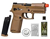 Sig Sauer ProForce M18 Airsoft Green Gas with Extra Mag and 13oz Green Gas Tank and Pack of 1000 6mm .20g BBS Bundle