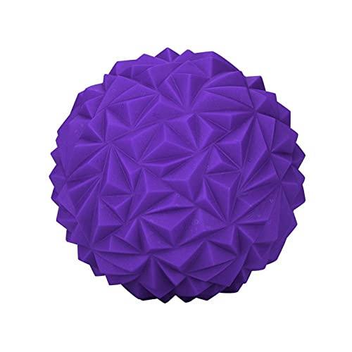 Kadimendium Bola de Masaje Puntiaguda, Duradera y cómoda, Media Bola de Yoga para Fitness para niños(Purple)