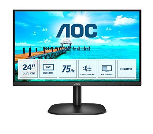 AOC 24B2XDM - 24 Zoll FHD Monitor (1920x1080, 75 Hz, VGA, DVI) schwarz