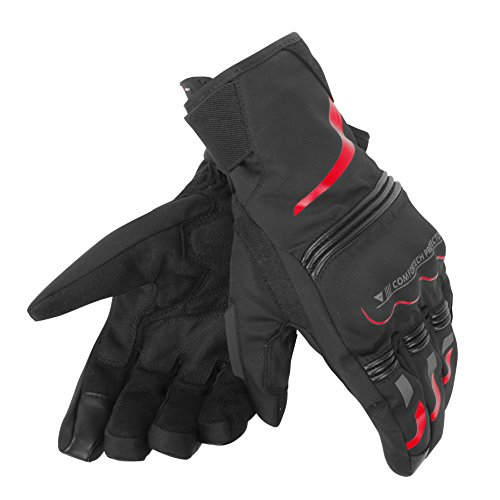 Dainese-TEMPEST UNISEX D-DRY SHORT Guantes, Negro/Rojo, Talla M