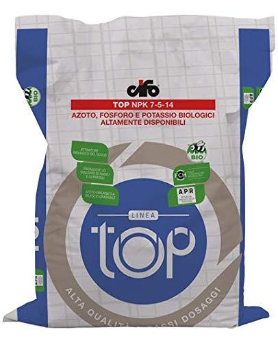 CIFO Top NPK 7-5-14 - Azoto, Fosforo e Potassio Biologici Conf. 25Kg