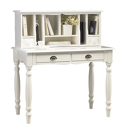 ACTUAL DIFFUSION Windsor Meuble secrétaire Blanc Charme, Pin, 53,3x100x114,7 cm