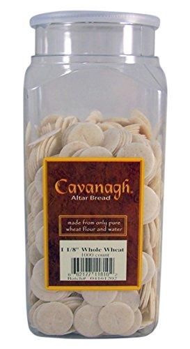 Cavanagh Altar Bread - 1 1/8' Whole Wheat - 1000/Container