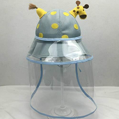 langchao Baby Hut süß super süß Frühling und Sommer Baby Sonnenhut Jungen und Mädchen Sonnencreme Hut 2-4 Jahre Alten Hut Umfang (48-50cm) Einheitsgröße blau Full Mesh Hut + Schutzhülle