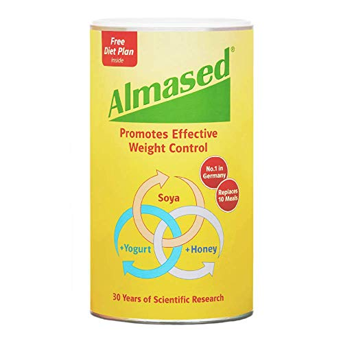 Almased Meal Replacement Shake - Plant Base Protein - Weight Loss Formula - Low-Glycemic High Protein Diet - Metabolism & Energy Booster - 17.6 oz