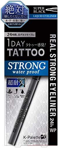 K-Palette Real Strong Eyeliner Long Lasting for 24 Hours from Japan WP Super Black