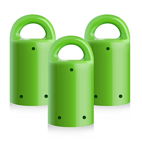MagnetPal 3 pack Heavy-Duty Neodymium Anti-Rust Magnet, Best for Magnetic Stud Finder / Key Organizer / Indoor and Outdoor Multi Uses, Green with Key Ring (SP-MPM3GR)