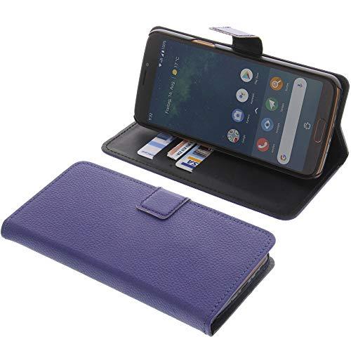 Tasche für Doro 8080 Book Style blau Kreditkarte Schutz Hülle Buch