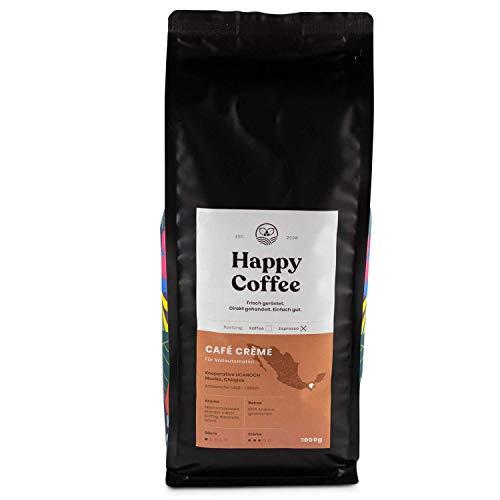 Happy Coffee CAFE CREME |Für Kaffeevollautomaten | Säurearm |schokoladig (1KG)