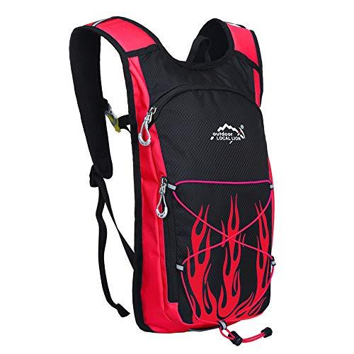 Sac à dos de cyclisme Sac à dos d'hydratation résistant à l'eau pour la course, la randonnée et le cyclisme Bretelles réglables d'épaule, de poitrine et de taille rembourrées 8L pour Camping en plein