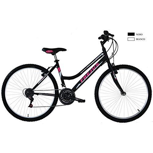 F.lli Masciaghi Bici 26 MTB Donna 18 Velocita COMADO Grip (Bianco (Nero)