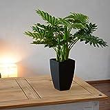 INtrenDU Künstliche Dekopflanze Palme Kunstpflanzen im Topf Kunstblumen Fensterdeko künstliche Pflanze (Variante 3) - 2