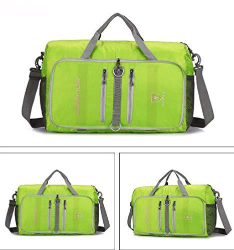 MXH reistas met een schoudertas met hoge capaciteit voor mannen en vrouwen, van nylon, effen, opvouwbaar, licht, groen
