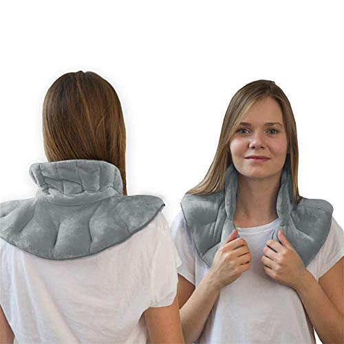 Hot & Cold Herbal Aromatherapy Neck & Shoulder Plush Wrap Pad for Soothing Muscle Pain and Tension Relief Therapy, Neck and Shoulder Heated Pad Pain and Arthritis Relief, Use in Microwave or Freezer