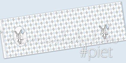 Mamasliebchen Jersey-Stoff Meterware Pippa & Piet #Piet Raute (ca. 0,45 m x 1,5 m / 1 Panel)