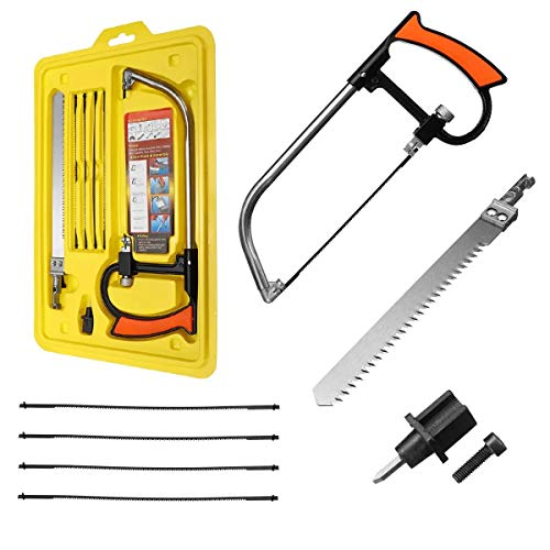 Conjunto de herramientas Herramientas de corte DIY mano arco Sierras Madera Metal Piedra de trabajo 9 en 1 magia Sierra de mano Set