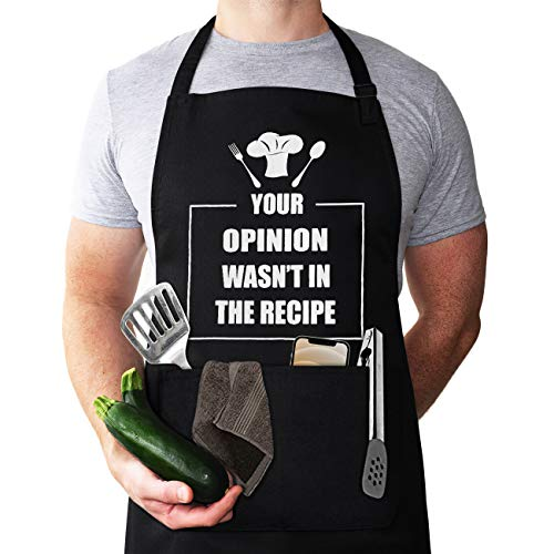 Funny Chef Apron, Mens apron, Funny Apron cooking for Men &...