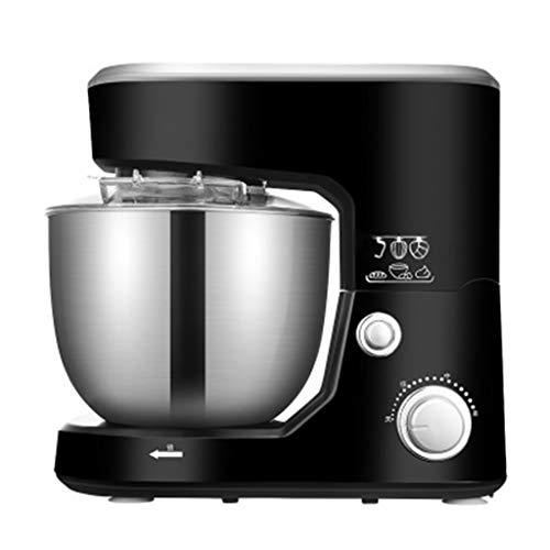 Deegmachine, 1000W keukenmachine met 3 snelheden, elektrische handmixer met 5L roestvrijstalen mengkom, voedselmixer, garde, broodmixermachine,Black