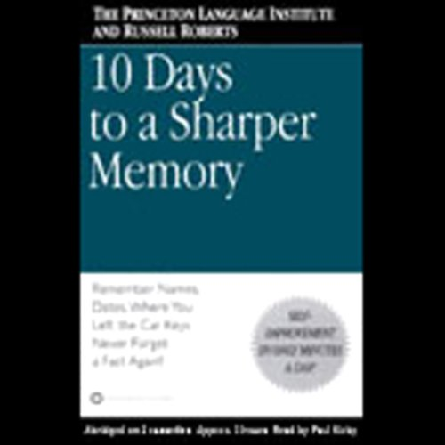 10 Days to a Sharper Memory audiobook cover art
