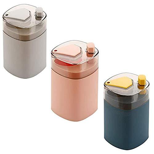 3 Stück Zahnstocherspender Spender für Zahnstocher Zahnstocher schieben automatische Haushalts Eimer Portable Zahnstocherbox aus Kunststoff Ohne Zahnstocher