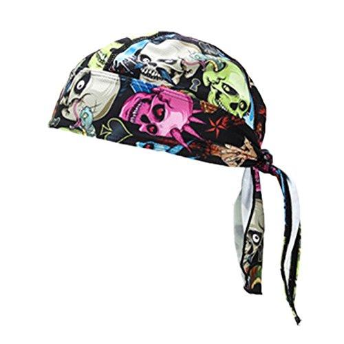 TOOGOO Sombreros de deporte de bicicleta al aire libre Barbijo gorra para bicicleta Equipo para montar Bandana para montar Diadema bufanda pirata (Impresion del craneo)