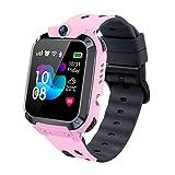 Vannico Reloj Inteligente Niño, Smartwatch para Niños IP68, LBS, Juegos, Llamada, SOS, Cámara, Chat de Voz, Modo de Clase, Reloj Regalo para Niños de 3-12 años (Rosa)