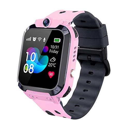 Orologio intelligente per bambini, orologio smart phone impermeabile IP68, con chat vocale anti-smarrimento LBS SOS modalità aula sveglia gioco digitale, per ragazzi e ragazze