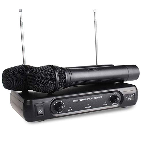 HiFi draadloze microfoon, professionele dual handradio-microfoon, microfoon-ontvanger, karaoke-microfoons voor disco/KTV/karaoke/computer/party/bar