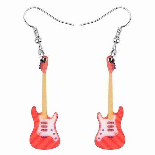 N/N Aretes Mujer Pendientes De Violín De Guitarra Acrílica Pendientes Colgantes Pendientes De Decoración Joyas