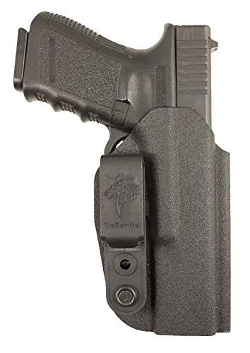 Desantis Slim-Tuk Inside Fits Glock 43 Ambidextrous Kydex Pants Holster, Black