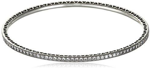 Pandora Damen-Armband Funkelnder Liebes-Armreif 925 Silber Zirkonia weiß 19 cm - 590511CZ-19