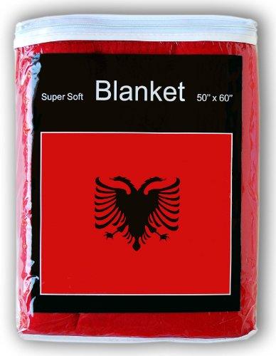 Super Soft Albanian Flag Fleece Blanket 5 ft x 4.2 ft. Throw Cover Flag of Albania Bedding Flamuri i Shqipërisë Baby Blanket