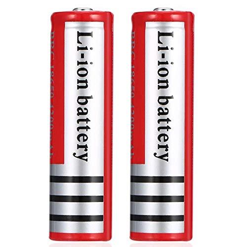 kally Icr 18650 Pilas Recargables 3.7 V li-Ion Lithium Ion 4200 Mah Alta Capacidad Batería, para Luces Solar, Luces Jardín, Control Remoto, Mouse, Linterna, (con Caja, 2pcs)