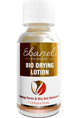 Ebanel Acne Drying Lotion, Overnight Salicylic Acid and Sulfur Cystic Acne Spot Treatment for Face and Body, Pimple Cream Spot Treatment, Dries Out Pimples, Cysts, Blemishes, Zits, and Clogged Pores
