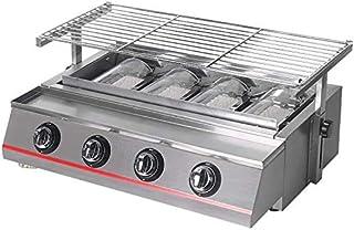 RVTYR Gas Barbacoa Grill 4 quemadores portátil Ambiental de Picnic al Aire Libre de la Parrilla de Barbacoa Ajustable Estante de Acero Inoxidable, máquina de Mesa, Accesorios barbecook Barbacoa