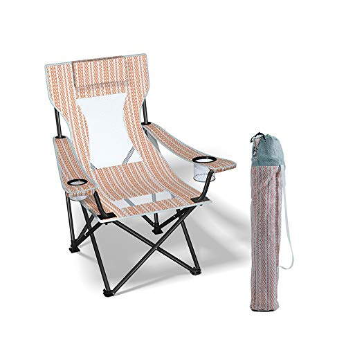 ZXQZ Silla plegable - Acampar al aire libre Silla plegable portátil Almuerzo Sillón reclinable...