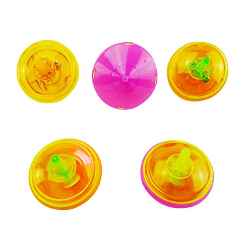 Purchase Toyvian 24pcs Gyro Toy Spinning Tops Toys Light Up Mini Flashing Cute Plastic Gyroscope Peg...