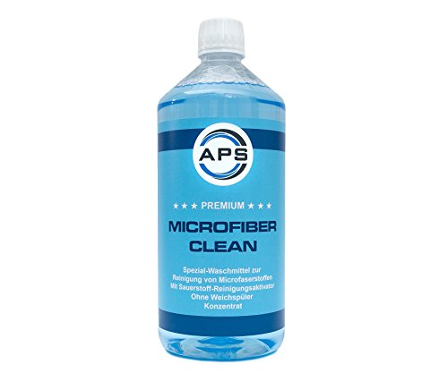 APS Premium Microfiber Clean Microfaserwaschmittel Microfaser Waschmittel 1Liter
