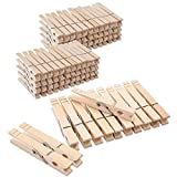 Clothes Pins Wood for Hanging Clothes,3.5 Inch【100pcs】 Heavy Duty Wooden Clothespins,Clothes Pins for Craft,Wooden Clips for Pictures.   Rust Resistant