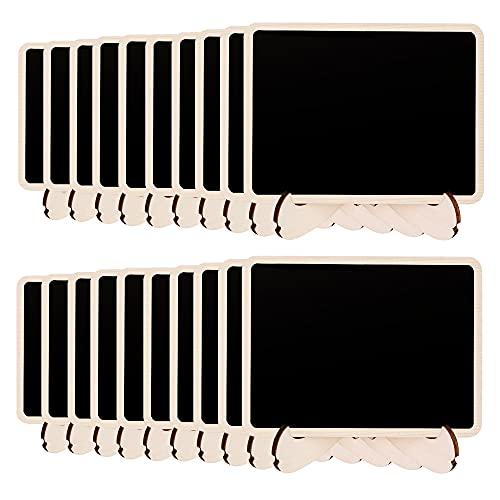 Amazon Basics - Minipizarras de madera, con caballete de apoyo, 20 unidades